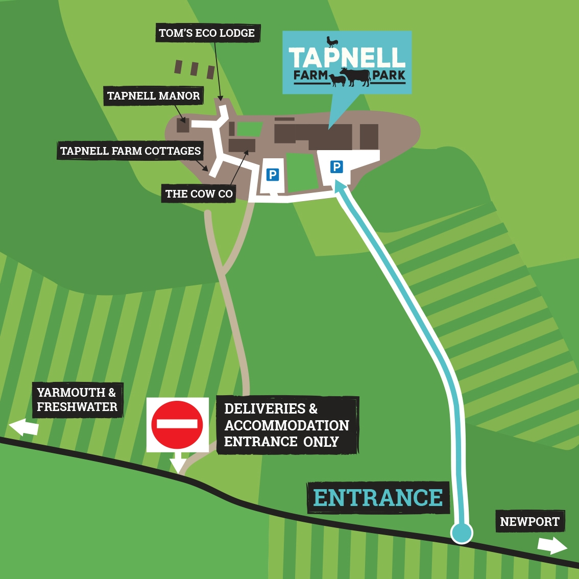 Map of Tapnell Farm Illustration