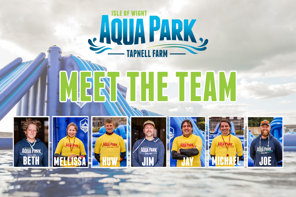 IOW AQUA PARK MEET THE TEAM SLIDER NEW
