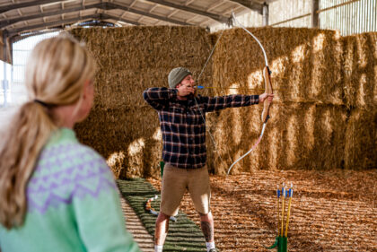 Tapnell Farm Archery taking aim