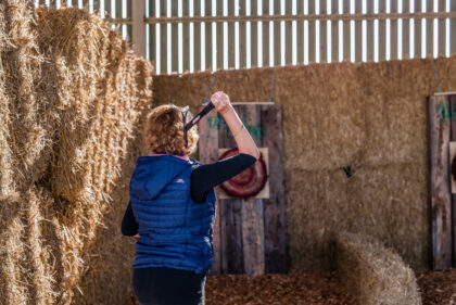 Tapnell Farm Axe Throwing mum