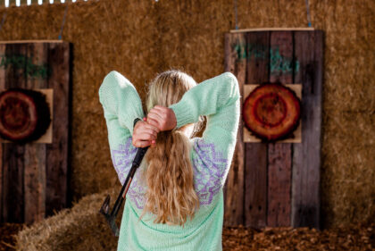 Tapnell Farm Axe Throwing two hands