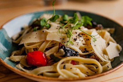 The Cow Roasted Mediterranean Vegetable Tagliatelle 1024x683