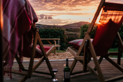 Toms Eco Lodge Eco Pod sunset view