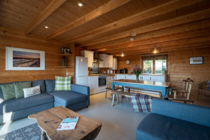 Toms Eco Lodge Wood Cabin interior IAS