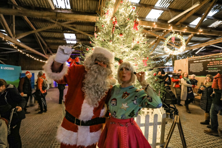 Tapnell Farm Park Christmas Light Switch On Santa and Bubbles
