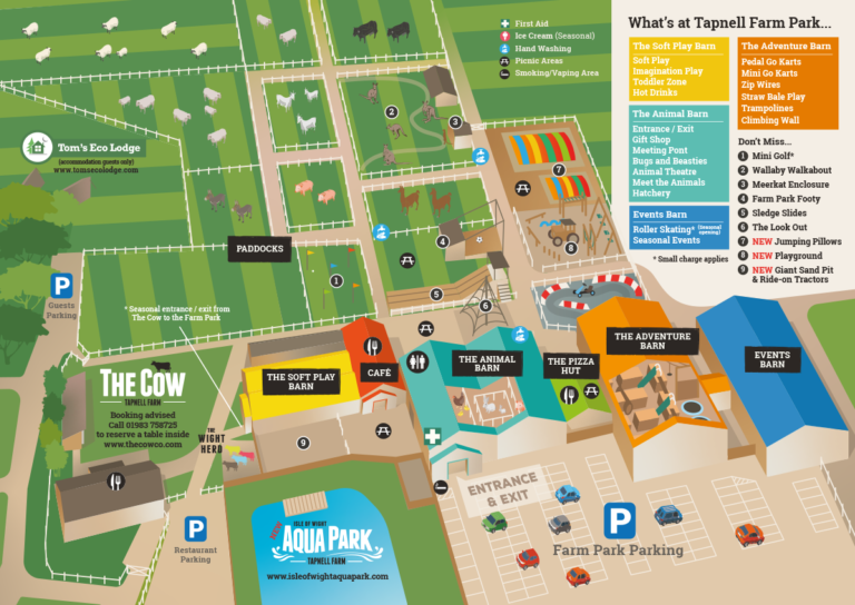 Tapnell Farm Park Map 2020