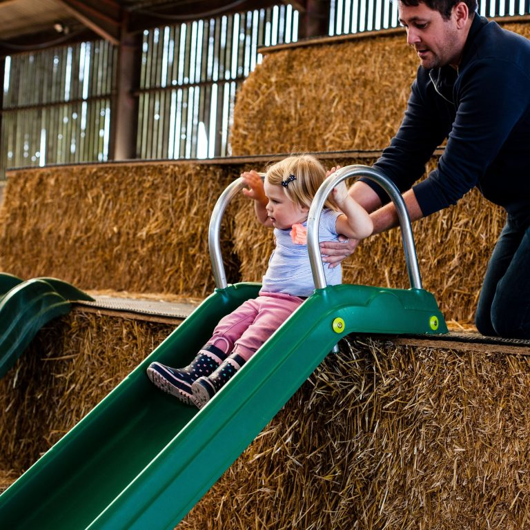 Tapnell Farm Park Toddler Straw Barn Slide