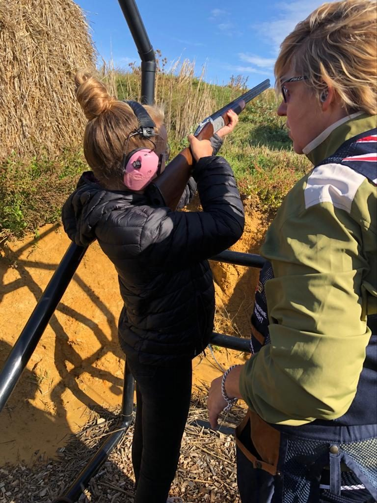Top Targets clay pigeon shoot at Tapnell Farm young person