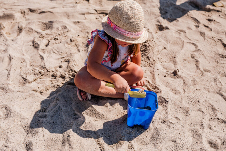 Tapnell Farm Park Beach girl bucket and spade